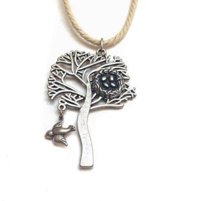 Кулон-подвеска «Дерево с птичкой»