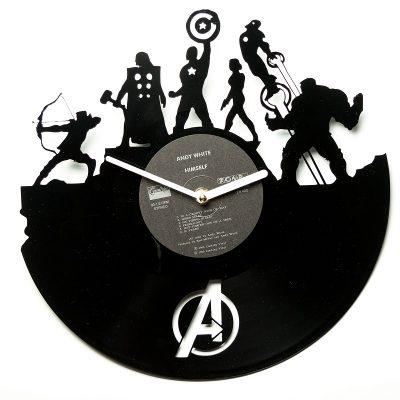 Часы виниловые «Супергерои»