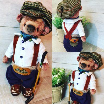 Коллекционная мягкая игрушка - мишка Джордж