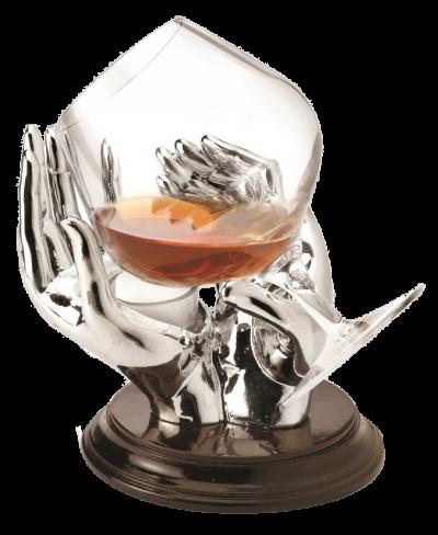 Коньячный бокал с подставкой для подогрева «Тепло рук»