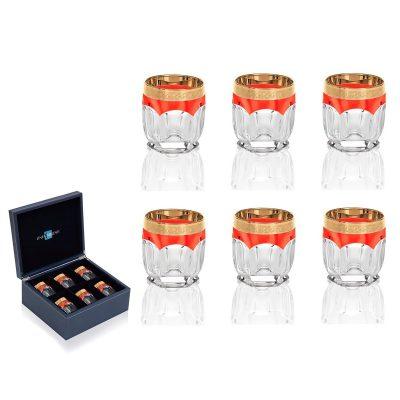 Набор бокалов для виски LINEA ARGENTI «Orange»