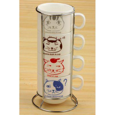 Набор чашек «Котики»