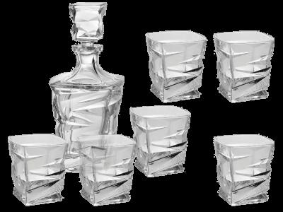 Набор для воды и виски «Зигзаг» (графин + 6 стаканов)