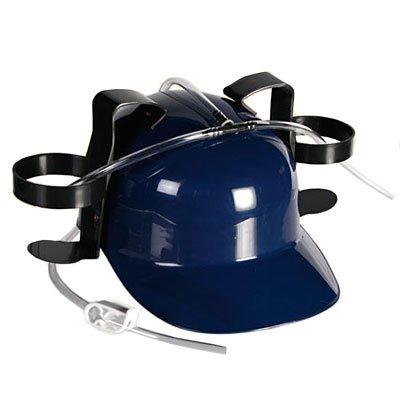 Каска «Свободные руки» с крепежами для напитков, синяя