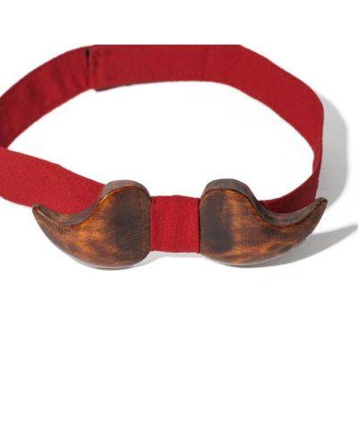 Деревянный галстук-бабочка «Усы» Bow tie decor