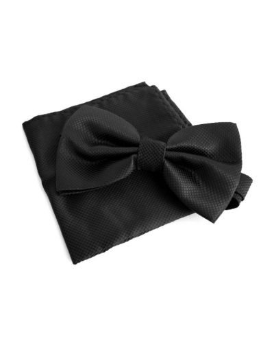 Элегантный набор: бабочка и платок (черный) Handmade