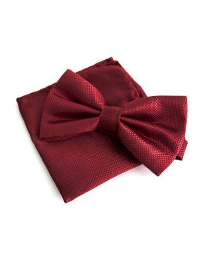 Элегантный набор: бабочка и платок (вишневый) Handmade