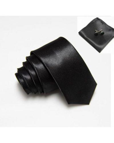 Стильный набор: галстук, платок и запонки Handmade
