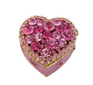 Шкатулка «Сердце», розовая