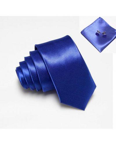 Стильный и элегантный набор: галстук, платок и запонки Handmade