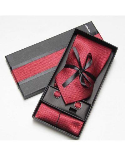 Стильный набор 3 в 1: галстук + платок + запонки Handmade