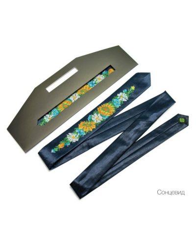 Узкий галстук с вышивкой «Солнцевид» Nashi Rechi