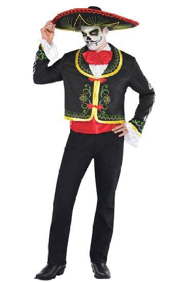 Мужской карнавальный костюм «День Мертвых» XL