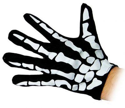 Перчатки «Скелет» черные