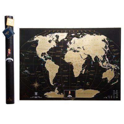 Скретч-карта мира MyMap «Black Edition»