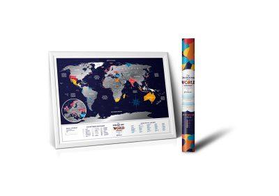 Скретч-карта мира Travel Map ™ «Holiday World»
