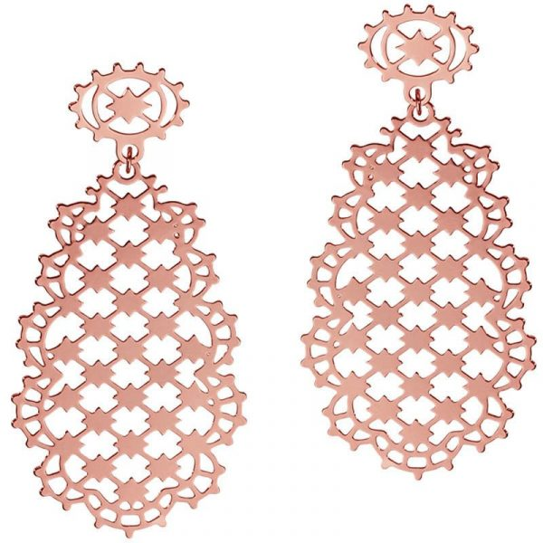 Ажурные серьги Armadoro Jewelry из розового золота