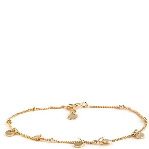 Браслет Aran Jewels с позолотой и круглыми подвесками