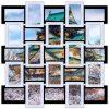 Деревянная фоторамка на 25 фото «Квадрат»