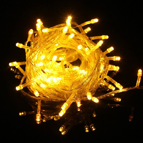 Гирлянда на 100 ламп (желтая)