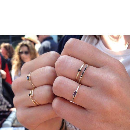 Кольцо Aran Jewels с позолотой и голубым цирконом