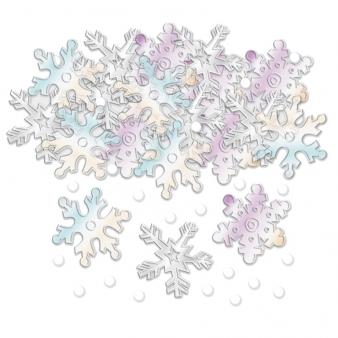 Конфетти новогоднее «Снежинки» в перламутре