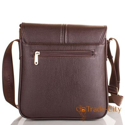 Мужская сумка-почтальонка из качественного кожзаменителя BONIS (БОНИС)