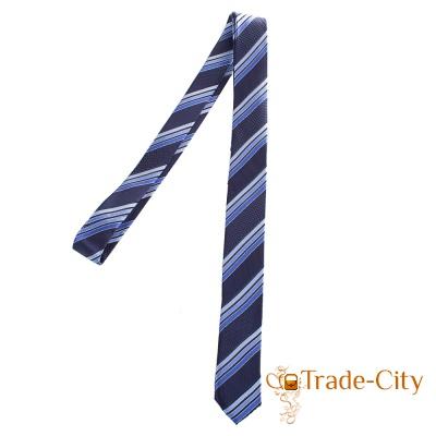 Мужской узкий шелковый галстук ETERNO (синий)