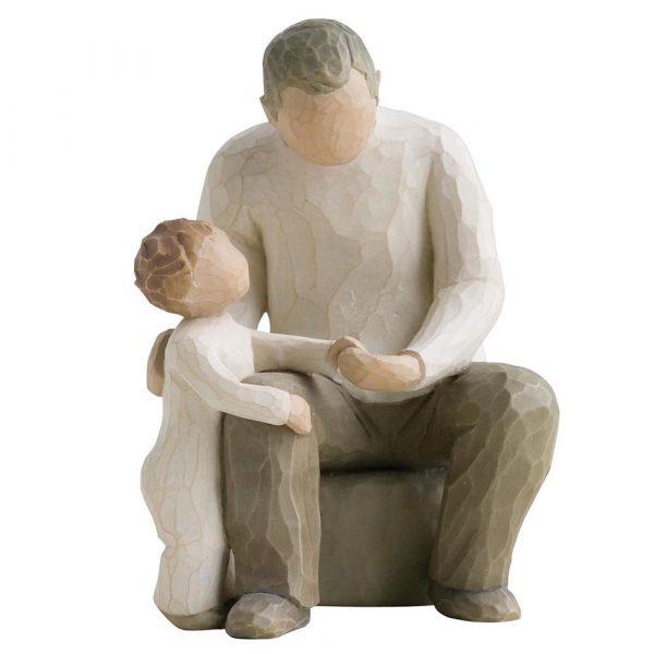 Парная статуэтка Enesco «Дедушка с внуком»
