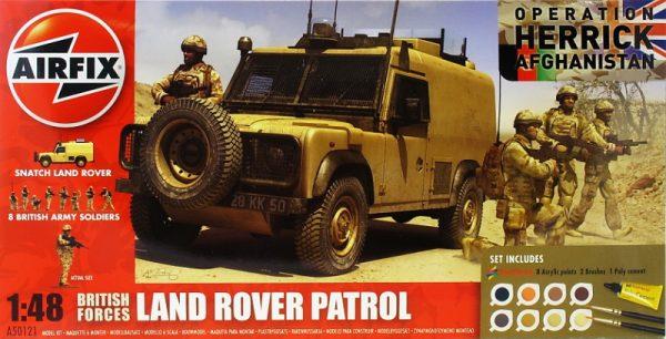 Подарочный набор с моделью автомобиля Land Rover и фигурок «Британские войска» Airfix