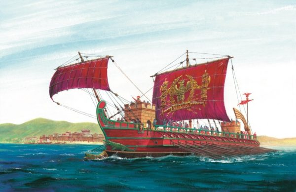 Подарочный набор с моделью корабля Римской империи – триремы