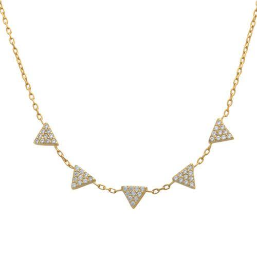 Подвеска Aran Jewels с треугольниками в цирконах
