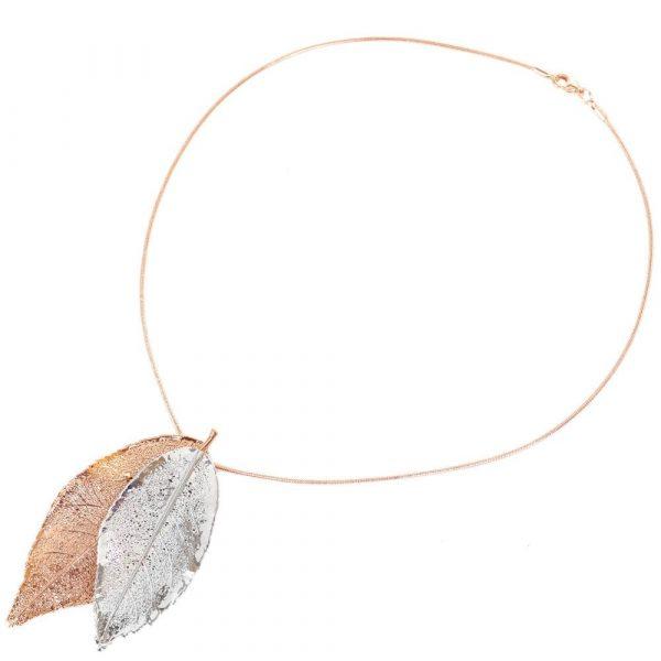 Подвеска Ester Bijoux «Filigree Rose» в розовом золоте и серебре