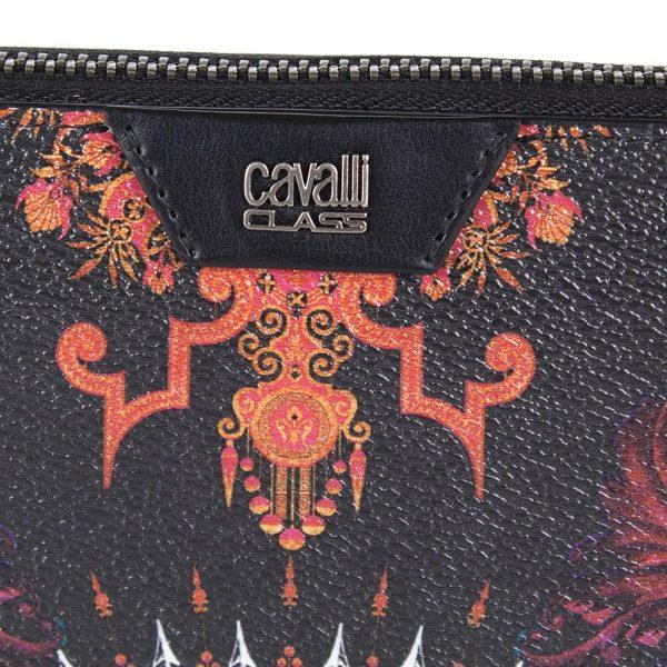Портмоне Cavalli Class Crazy «Print» черного цвета на молнии