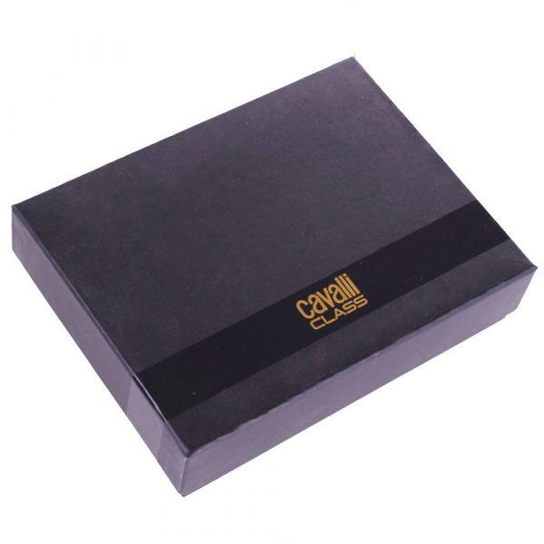 Портмоне Cavalli Class «Hoxton» цвета хаки с черной вставкой