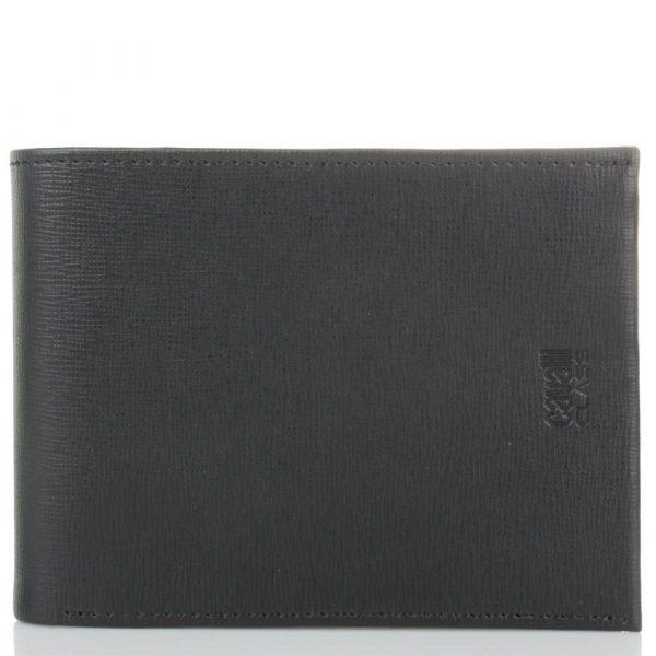 Портмоне мужское Cavalli Class «Astoria» черного цвета с сафьяновой отделкой кожи