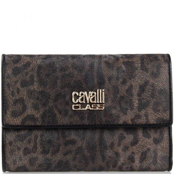 Портмоне женское Cavalli Class с леопардовым принтом