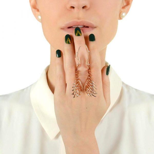 Разомкнутое кольцо Armadoro Jewelry в виде крыльев
