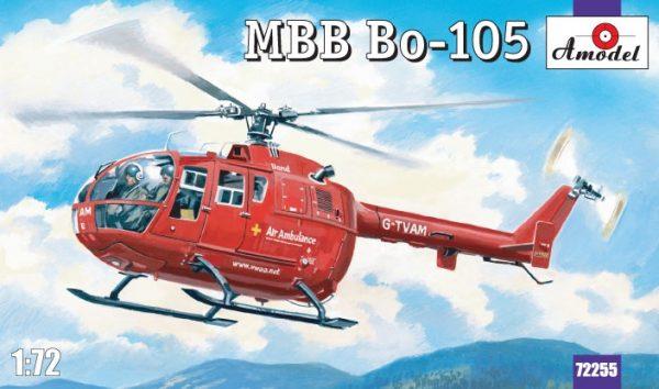 Сборная модель вертолета «Bo-105» ТМ Amodel