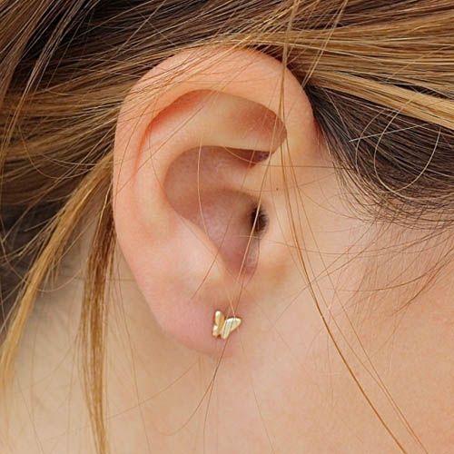 Серьги Aran Jewels «Бабочки» с позолотой