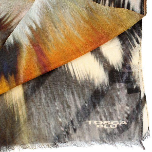 Шарф Tosca Blu «Royal tea» с абстрактным рисунком