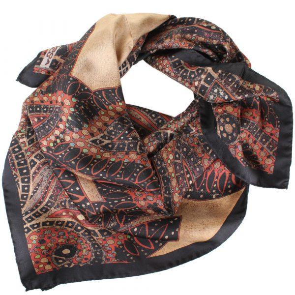 Шелковый платок Tosca Blu «Maldive» с оригиналным орнаментом
