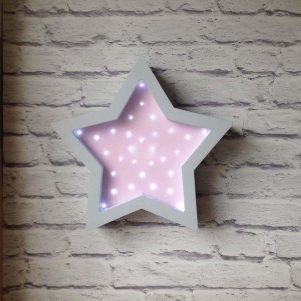 Светодиодный ночник «Звезда» (розовый)
