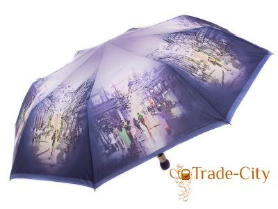 Зонт женский полуавтомат «Вечерний город» ZEST (ЗЕСТ)