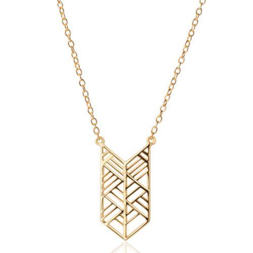 Цепочка Aran Jewels с подвесом геометрической формы в позолоте