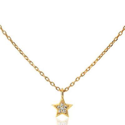 Цепочка Aran Jewels с подвесом в форме звездочки с цирконами