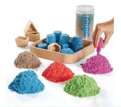 Кинетический песок 1 кг + 4 формы