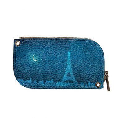 Ключница кожаная «Ночь в Париже»