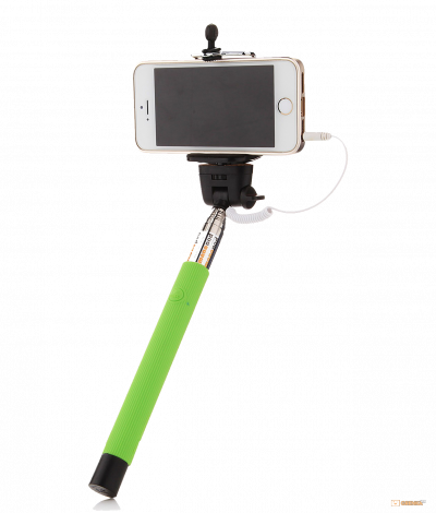 Монопод для селфи, селфи стик со шнуром UFT SS1 light green