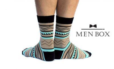 Мужские носки. Цвет: коричневый + голубой + черный